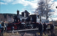 21B No.252 on the turntable at Kongsberg in 1970 (Norsk Jernbanemuseum)