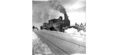 Type 21 working as a snowplough locomotive. (Norsk Jernbanemuseum)