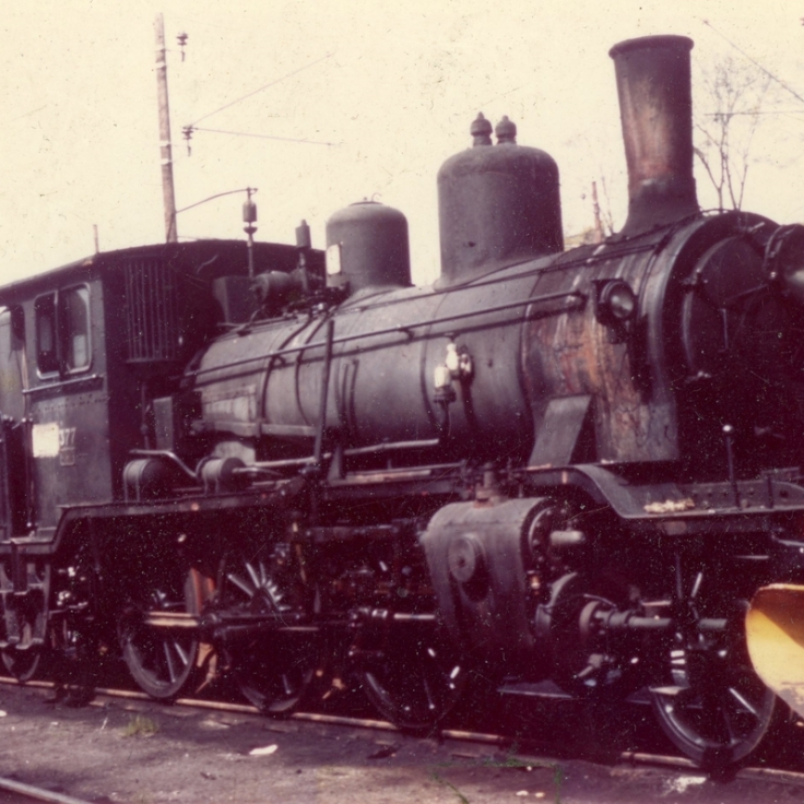 No.377 (21C) prior to overhaul and shipping to the UK. This engine was later named 'King Hakon' and based at Bressingham. (Akershusbasen)