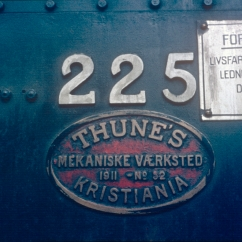Worksplate from locomotive No.225 (21e). (Norsk Jernbanemuseum)