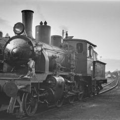 21c No.370 stands outside Marienborg workshops (Trondheim) during 1960. (Akershusbasen)