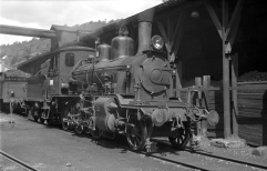21a No.203 at Kullbingen Arendal Station in 1962. (Norsk Jernbanemuseum)