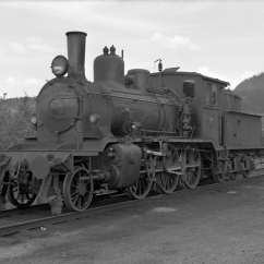 21c No.376 at Grong station. (Norsk Jernbanemuseum)