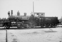 Works photo of 21c No.377 after completion at Nydqvist & Holm. (Norsk Jernbanemuseum)