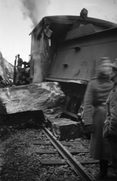 Accident involving No.370. (Norsk Jernbanemuseum)