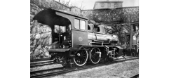 Type 21a No.202 on narrow gauge accommodation bogies. (Norsk Jernbanemuseum)